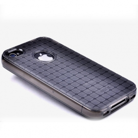 # TPU чехол ROCK Magic Cube для Iphone 4/4S<br>Черный / Transparent black