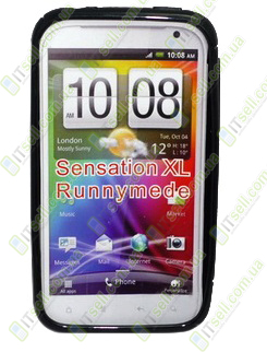 #TPU Duotone для HTC Sensation XL<br>Черный